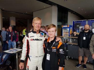 Myself alongside Rally Legend Ari Vattinen at Ignition 2017